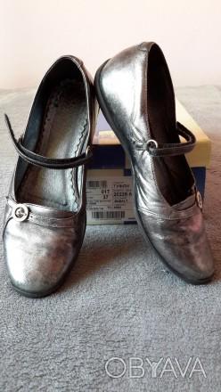 """Кожаные туфли ,балетки""""Bartek"""",Польша,37 размер.Цвет серебристый.Все нюансы на ф. Светловодск, Кировоградская область. фото 1"""
