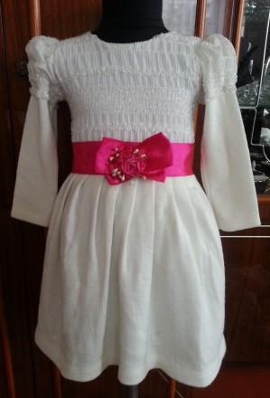 Модель  ПЛ-8. Фиолетовое платье + белое болеро + сумочка.   Платье с витрины, ц. Киев, Киевская область. фото 6