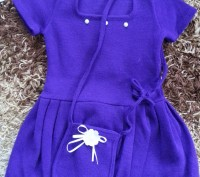 Модель  ПЛ-8. Фиолетовое платье + белое болеро + сумочка.   Платье с витрины, ц. Киев, Киевская область. фото 3