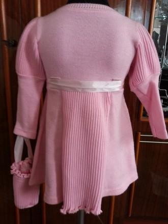 Модель  ПЛ-8. Фиолетовое платье + белое болеро + сумочка.   Платье с витрины, ц. Киев, Киевская область. фото 5
