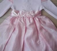Модель   ПЛ-57. Розовое трикотажное платье с пышной юбкой. Красивый пояс из наши. Киев, Киевская область. фото 3