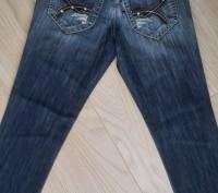 Модель Ш-66 (фото 1-4). Синие джинсы на девочку, карманы украшены кожаными встав. Киев, Киевская область. фото 3