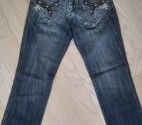 Модель Ш-66 (фото 1-4). Синие джинсы на девочку, карманы украшены кожаными встав. Киев, Киевская область. фото 2