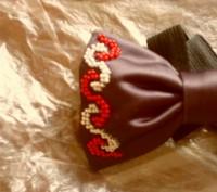 галстук-бабочка вышитый бисером.подойдет для любого торжественного события, смот. Вінниця, Винницкая область. фото 9