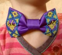 галстук-бабочка вышитый бисером.подойдет для любого торжественного события, смот. Вінниця, Винницкая область. фото 7