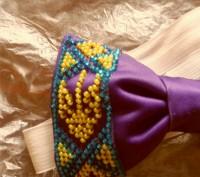 галстук-бабочка вышитый бисером.подойдет для любого торжественного события, смот. Вінниця, Винницкая область. фото 8