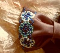 галстук-бабочка вышитый бисером.подойдет для любого торжественного события, смот. Вінниця, Винницкая область. фото 10