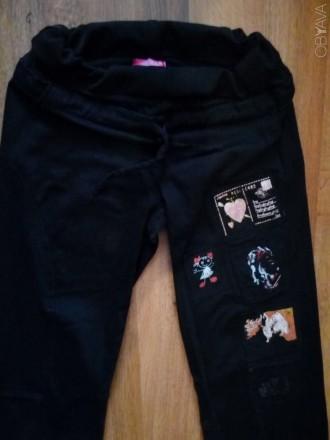 Теплые брюки черного цвета в хорошем состоянии на девочку-подростка или на хрупк. Сумы, Сумская область. фото 1