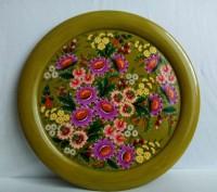 Декоративная тарелка с авторской росписью. Винница. фото 1