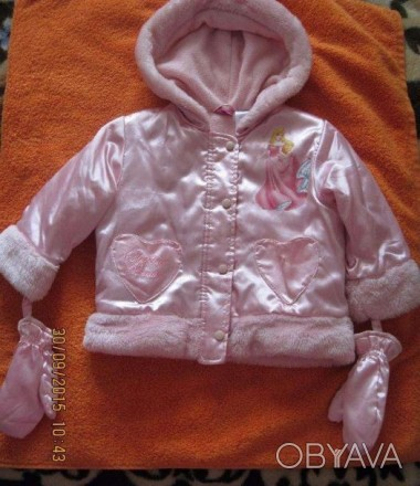 Симпатична куртка на вік 1-2 роки. Верх атласний, підкладка флісова, утеплена. В. Винница, Винницкая область. фото 1