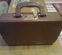Кожаный сумка-портфель с кодовым замком. Запорожье. фото 1
