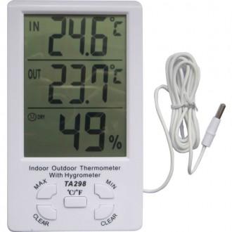 Термометр-гигрометр с внешним датчиком температуры TA298 предназначен для измере. Днепр, Днепропетровская область. фото 4