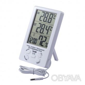 Термометр-гигрометр с внешним датчиком температуры TA298 предназначен для измере. Днепр, Днепропетровская область. фото 1