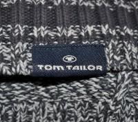 Коттоновый спортивный свитер Tom Tailor из Англии. Размер XL. Отложной воротник. Запорожье, Запорожская область. фото 5