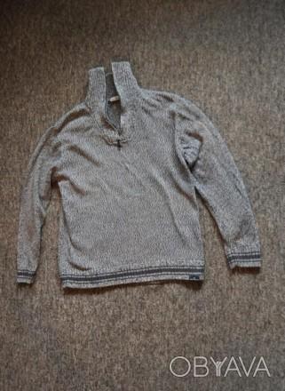 Коттоновый спортивный свитер Tom Tailor из Англии. Размер XL. Отложной воротник. Запорожье, Запорожская область. фото 1