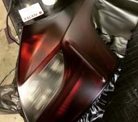 Матовая светло-черная пленка для тонировки фар. Чернигов. фото 1