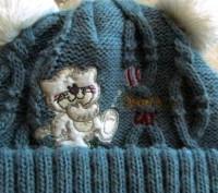 Продам теплую зимнюю шапочку. Вязаная, подкладка - флис. Подойдет для деток с р. Бровары, Киевская область. фото 3