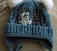 Продам теплую зимнюю шапочку. Вязаная, подкладка - флис. Подойдет для деток с р. Бровары, Киевская область. фото 2