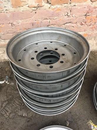 Колесные диски к прицепу 2птс-4 (6-8 шпилек). Орехов. фото 1