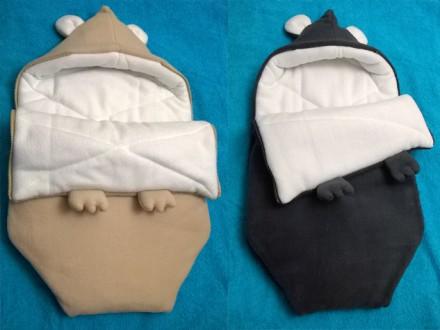Демисезонный конверт Мышка 43 х 75 см хорошее качество дитё в тепле. Київ. фото 1