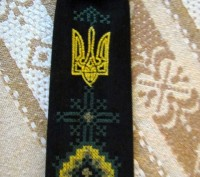Длина галстука 27 см. На резиночке. Цвет - черный или темно-синий. Машинная в. Бровары, Киевская область. фото 3