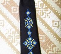 Длина галстука 27 см. На резиночке. Цвет - черный или темно-синий. Машинная в. Бровары, Киевская область. фото 6