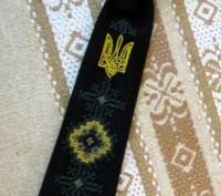 Длина галстука 27 см. На резиночке. Цвет - черный или темно-синий. Машинная в. Бровары, Киевская область. фото 4