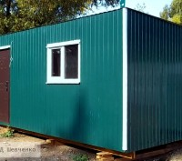 Вагончик на дачу 5х2,5 м, дачный домик, мини-офис, качественно, недорого. Киев. фото 1