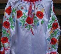Красивая вышиваночка ткань хлопок можно с юбкой, могу пошить под заказ любого ра. Житомир, Житомирская область. фото 4