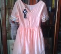 Платье для девочки,вышивка лентами, две юбки для пышности, производство Китай, с. Белая Церковь, Киевская область. фото 3