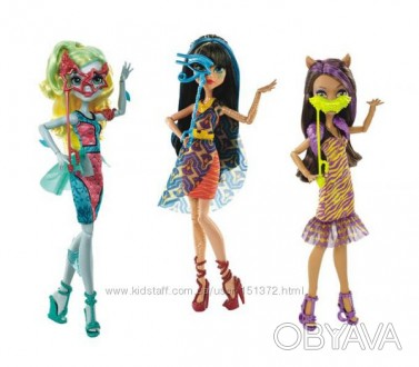 КУКЛЫ WELCOME TO MONSTER HIGH DANCE THE FRIGHT AWAY ЛАГУНА БЛЮ, КЛЕО