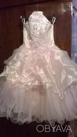 Платье нарядное, почти новое, один раз одели. Все вопросы по телефону.. Житомир, Житомирская область. фото 1