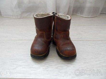 Сапожки детские кожа, производитель канада, один ребёнок, состояние 4+ из 5, не . Лубны, Полтавская область. фото 1