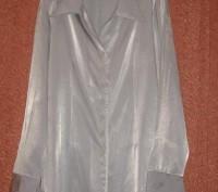 Блуза офисная.Серого цвета.BIKKAR.Р.46/48.. Житомир. фото 1