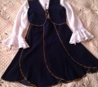 Костюм состоит из юбки и жилета, цвет - темно синий. Юбка на резинке. Возможен,. Могилев-Подольский, Винницкая область. фото 6