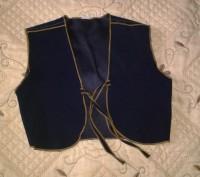 Костюм состоит из юбки и жилета, цвет - темно синий. Юбка на резинке. Возможен,. Могилев-Подольский, Винницкая область. фото 4