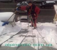 Очистка Кровли от Снега и Наледи. Большие скопления снега и льда, образующиеся . Киев, Киевская область. фото 2