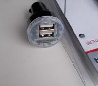 Aвтомобильное USB зарядное устройство от прикуривателя на 2 USB.. Северодонецк. фото 1