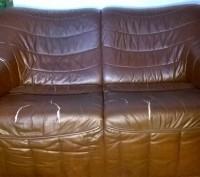 Диван і крісло з натуральної шкіри. Тернополь. фото 1