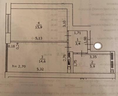 Продам 1 ком.квартиру площадь 40 м2 на 9/10 этаже. Сделан качественный ремонт, п. Синергия-2 ЖК, Ирпень, Киевская область. фото 8