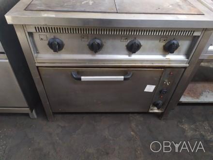 Продается плита электрическая бу на 4 конфорки с духовкой. Плита электрическая ,. Киев, Киевская область. фото 1