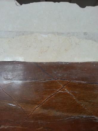 Индийский мрамор с янтарным теплым фоном. На фоне полоски и прожилки коричневого. Киев, Киевская область. фото 8