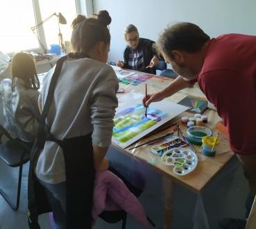 Творчі заняття для дорослих і дітей. Майстер-класи з акварелі, пастелі, акрилу, . Львов, Львовская область. фото 10