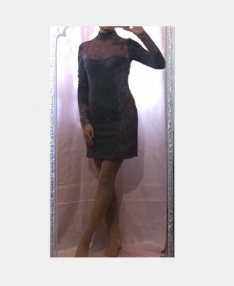 Трикотажное платье с кружевом.Новое.Размер 44-46.. Южный, Одесская область. фото 6