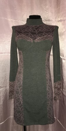 Трикотажное платье с кружевом.Новое.Размер 44-46.. Южный, Одесская область. фото 3