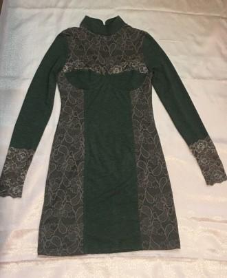 Трикотажное платье с кружевом.Новое.Размер 44-46.. Южный, Одесская область. фото 4