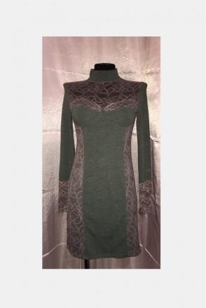 Трикотажное платье с кружевом.Новое.Размер 44-46.. Южный, Одесская область. фото 2