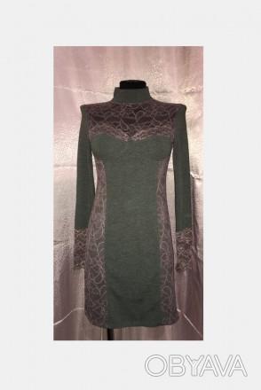 Трикотажное платье с кружевом.Новое.Размер 44-46.. Южный, Одесская область. фото 1