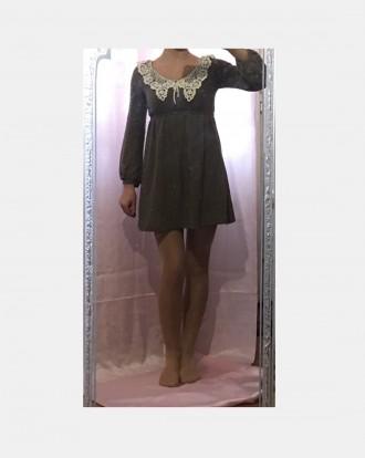 Трикотажное платье с пайетками ,кружевным воротником и небольшим вырезом на спин. Южный, Одесская область. фото 6