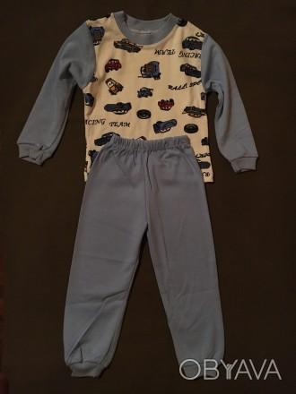 Пижамка для мальчика 100% хлопок нежная ткань производство Турция на 2 года. Киев, Киевская область. фото 1